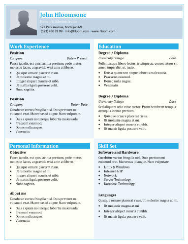 49 Creative Resume Templates Unique Non-Traditional Designs - engineering resume builder