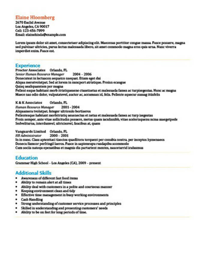 Modern Resume Templates 64 Examples - Free Download - resume template for it