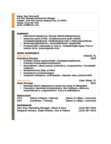 Modern Resume Templates 64 Examples - Free Download - font for a resume