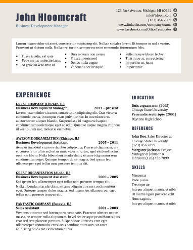 22 Contemporary Resume Templates Free Download - resume templates education