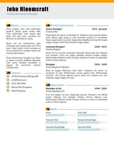 22 Contemporary Resume Templates Free Download - It Professional Resume Template