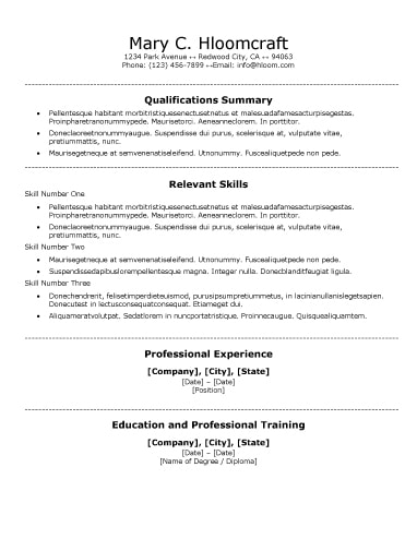 30 Basic Resume Templates - resume template for it professional