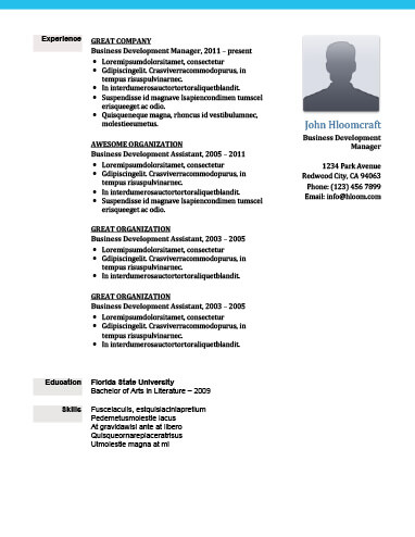 Modern Resume Templates 64 Examples - Free Download - experience resume template