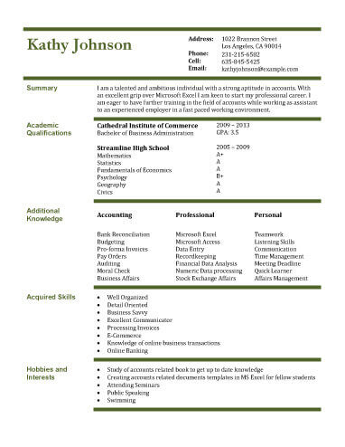 13 Student Resume Examples High School and College - accounting student resume