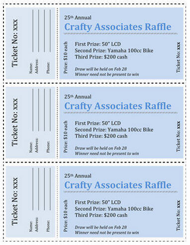 15 Free Raffle Ticket Templates in Microsoft Word - Mail Merge - free printable raffle ticket template