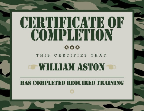 7 Training Certificate Templates Free Download - free training certificates