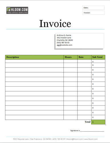 25 Free Service Invoice Templates Billing in Word and Excel - service invoice template