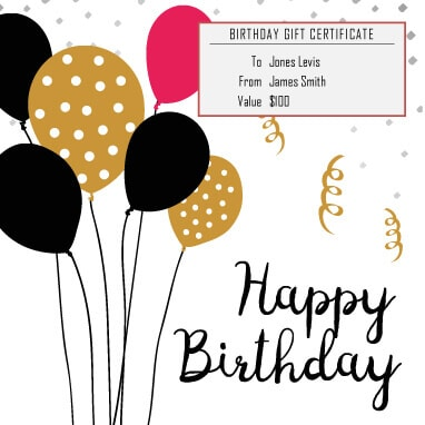 13 Free Printable Gift Certificate Templates Birthday, Christmas - gift voucher template