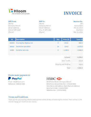 19 Blank Invoice Templates in MS Excel - Template For Invoice In Excel