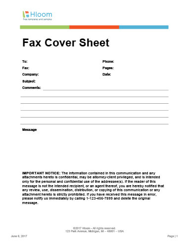 29 Free Printable Fax Cover Sheet Templates - fax cover sheet templates