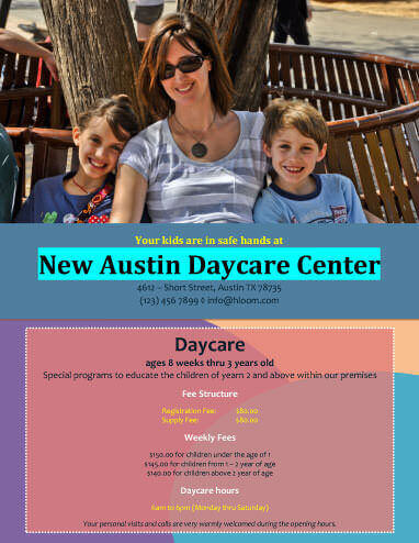 5 Free DayCare Flyer Templates - Daycare Flyer Template