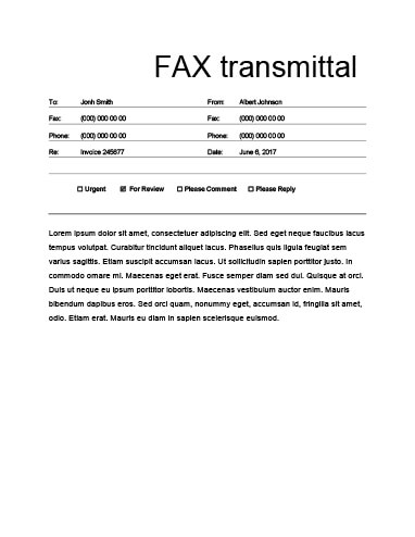 29 Free Printable Fax Cover Sheet Templates - fax cover sheet to print