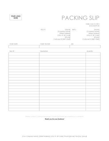 13 Free Packing SlipTemplates Word and Excel - packing slip