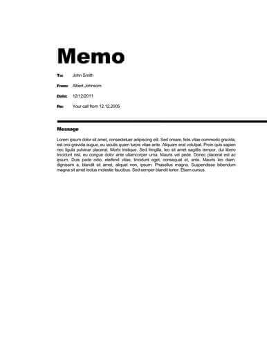Memo Format Bonus 48 Memo Templates - formal memo template