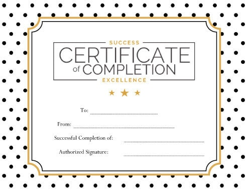 124+ Free Printable DIY Certificate Templates - free certificate of completion templates for word