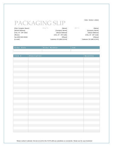 13 Free Packing SlipTemplates Word and Excel