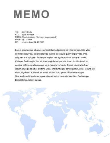 Memo Format Bonus 48 Memo Templates - Internal Memo Templates
