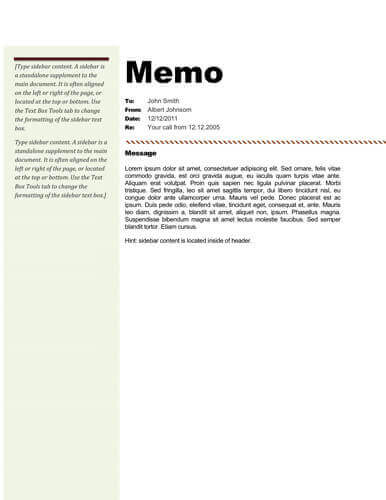 Memo Format Bonus 48 Memo Templates - internal memos format