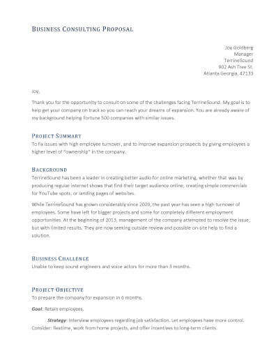 32 Sample Proposal Templates in Microsoft Word - consultant quotation