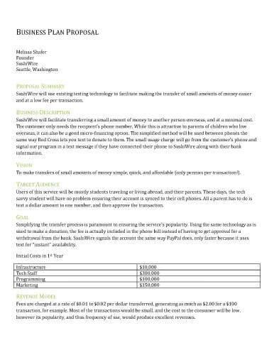32 Sample Proposal Templates in Microsoft Word