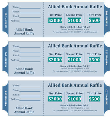15 Free Raffle Ticket Templates in Microsoft Word - Mail Merge - printable ticket templates