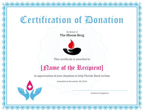 7 Printable Donation Certificates Templates