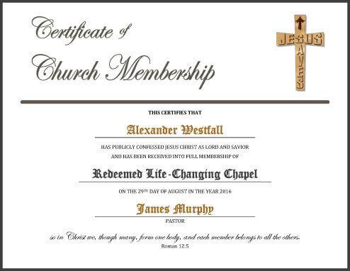 church membership certificate template - Canasbergdorfbib