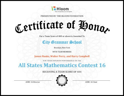 27 Printable Award Certificates Achievement, Merit, Honor - sample school certificate