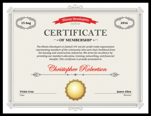 5 Certificate of Membership Templates free download - membership certificate templates