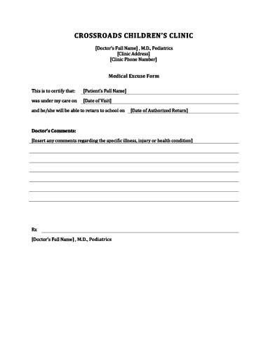 Doctoru0027s Note Templates u2022 Hloom - doctors note template