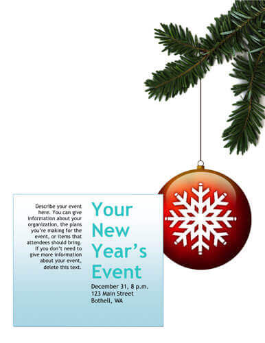 14 Free DIY Printable Christmas Invitations Templates - free holiday party invitation template