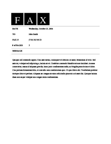 29 Free Printable Fax Cover Sheet Templates - fax templates in word