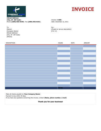 10 Free Freelance Invoice Templates Word / Excel - free invoicing templates