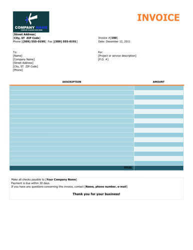 10 Free Freelance Invoice Templates Word / Excel - free invoicing