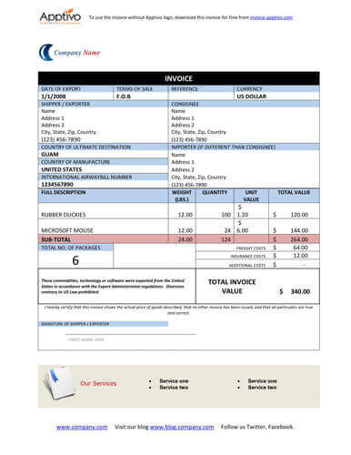Free Proforma Invoice Templates 8 Examples - Word\/Excel - create an invoice form