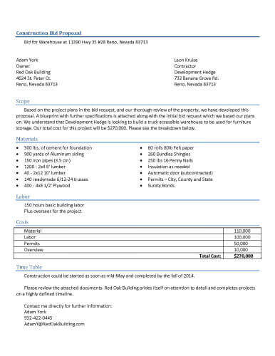 32 Sample Proposal Templates in Microsoft Word - Bid Proposal Template Free