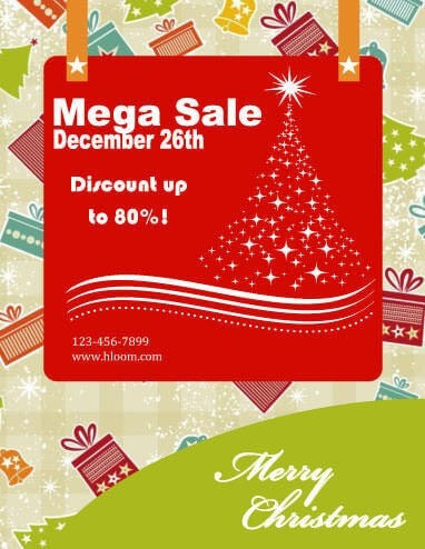 43 Free Christmas Flyer Templates for DIY Printables - discount flyer template