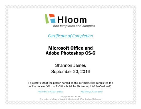 7 Certificates of Completion Templates Free Download - free certificate of completion templates for word
