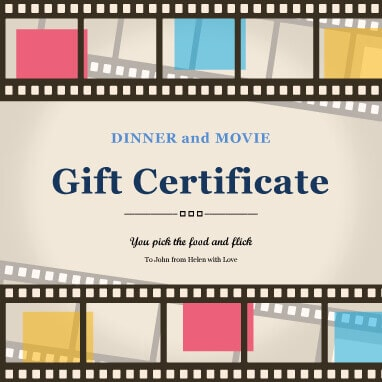 13 Free Printable Gift Certificate Templates Birthday, Christmas - food voucher template