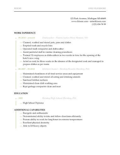 13 Student Resume Examples High School and College - experience resume sample