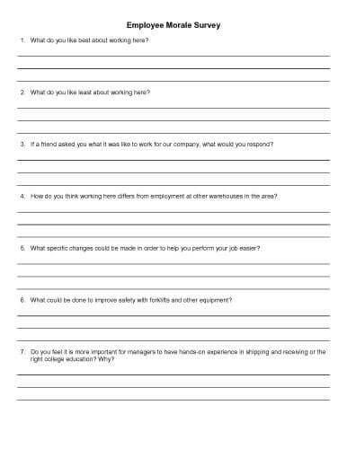employee morale surveys