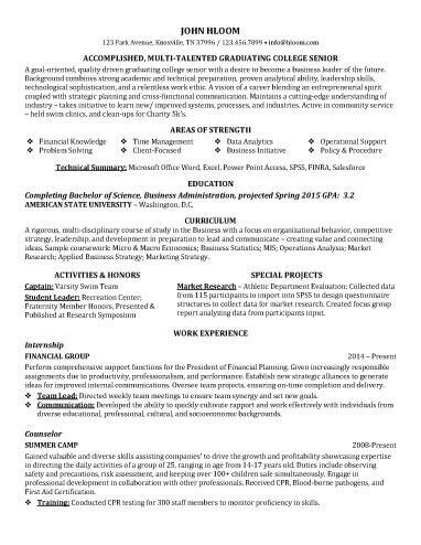 Entry Level Resume Examples \u2022 Hloom - entry level sample resume
