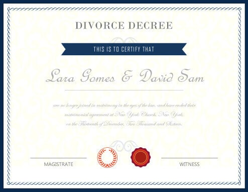 free fake divorce certificate - Ozilalmanoof - Fake Divorce Decree