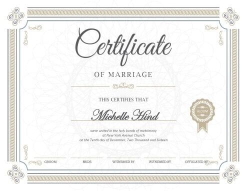 Fake Certificates \u2022 Hloom - wedding certificate template