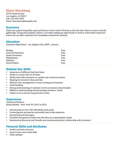 examples of a babysitter resume babysitter cover letter for resume best sample resume 12 free high