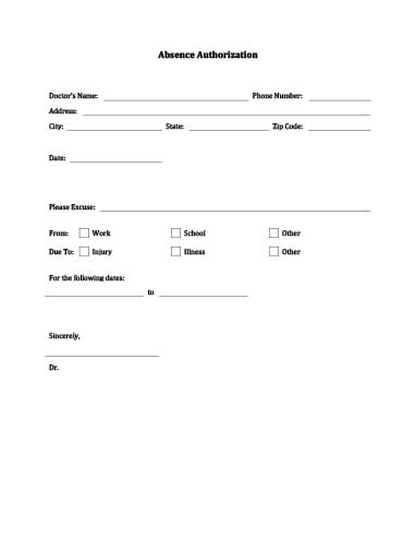 Doctor\u0027s Note Templates \u2022 Hloom