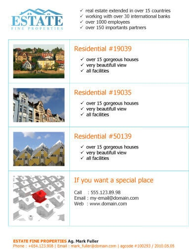 14 Free Flyers for Real Estate Sell / Rent