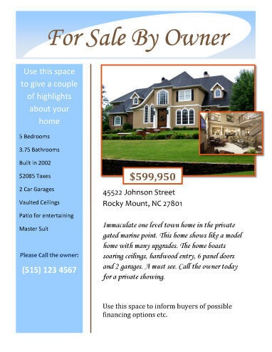 14 Free Flyers for Real Estate Sell / Rent - example of flyers