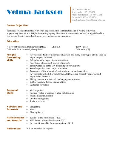 13 Student Resume Examples High School and College - personal skills resume