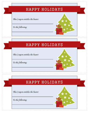 21 Free Printable Christmas Coupons - discount coupon template